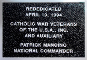 Plaque at Holy Trinity